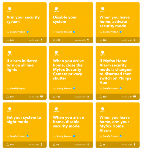 ifttt somfy protect