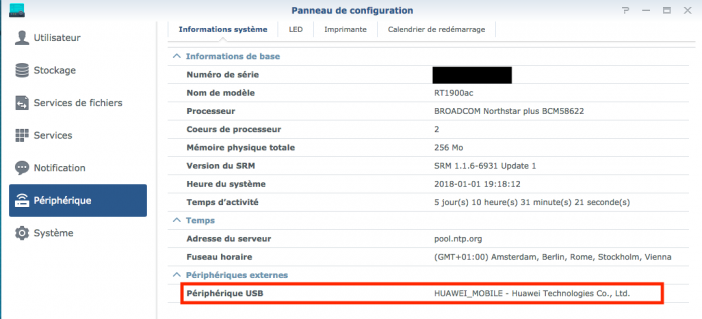 secours 3g synology 1