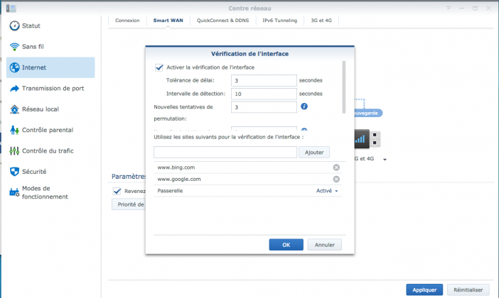 secours 3g synology 4