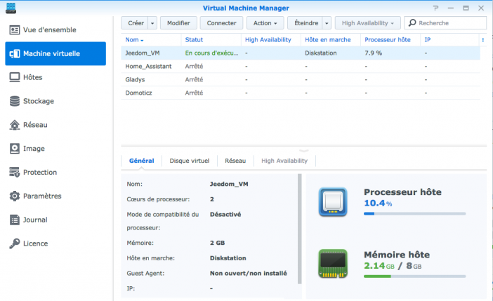 jeedom synology
