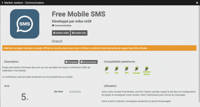jeedom sms free 1
