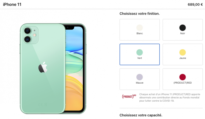 iphone11 officiel