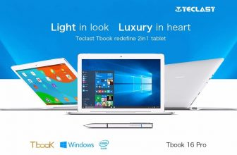 TECLAST Tbook 16 Pro: une tablette Windows 10 / Android très accessible