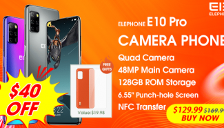 #BONPLANDUJOUR Elephone E10 Pro: le smartphone à 4 objectifs photo à 115€ !